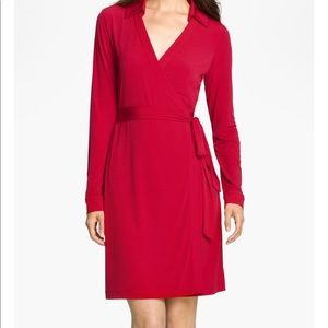 Calvin Klein Pink Jersey Collard Dress